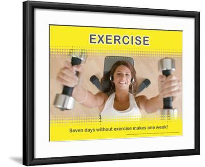 Exercise--Framed Art Print
