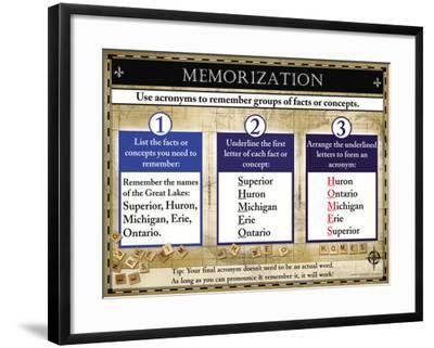 Memorization--Framed Art Print