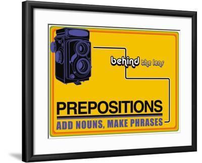 Prepositions--Framed Art Print