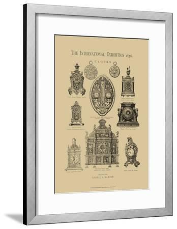 International Clocks--Framed Art Print