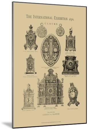 International Clocks--Mounted Art Print