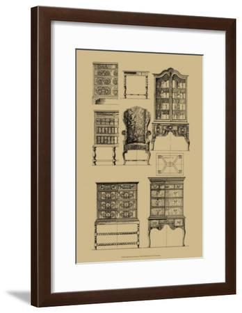 English Baroque Furniture--Framed Art Print
