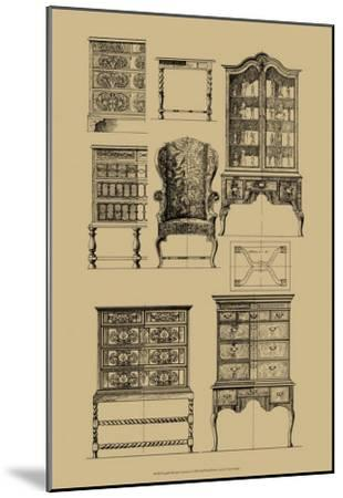 English Baroque Furniture--Mounted Art Print