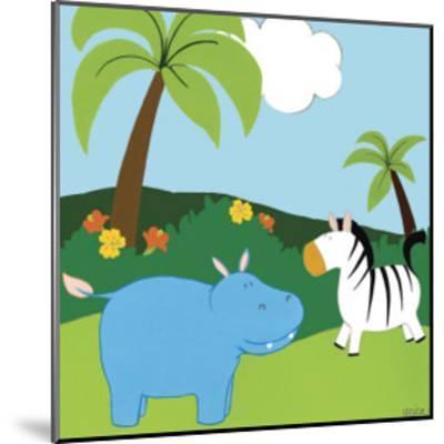 Jungle Jamboree III-Erica J. Vess-Mounted Art Print