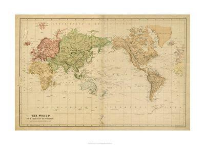The World on Mercator's Projection--Premium Giclee Print