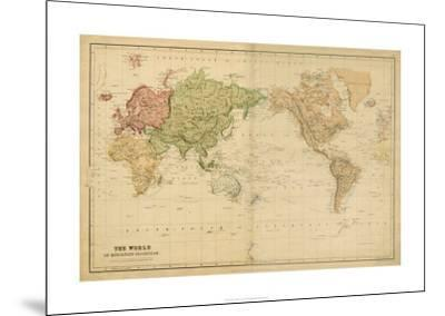 The World on Mercator's Projection--Mounted Premium Giclee Print