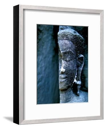 Angkor Wat Face, Cambodia-Charles Glover-Framed Giclee Print