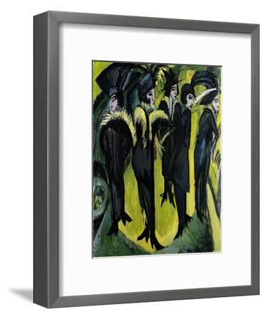 Five Women on the Stage-Ernst Ludwig Kirchner-Framed Art Print