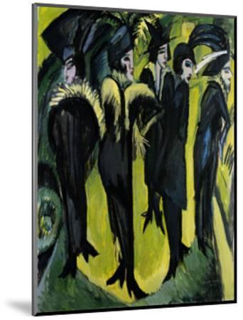 Five Women on the Stage-Ernst Ludwig Kirchner-Mounted Art Print