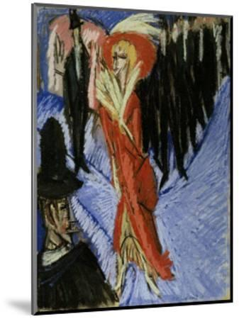 Red Cocotte-Ernst Ludwig Kirchner-Mounted Art Print