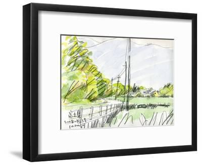 The Road That Leads to the Hometown Is in a Season of New Green Leaves-Kenji Fujimura-Framed Art Print