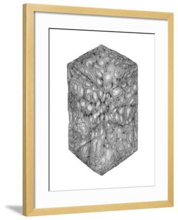 Abstract Black Hexagon Room-Ryuichirou Motomura-Framed Art Print