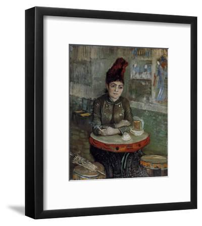 Woman at a Table in the Cafe du Tambourin-Vincent van Gogh-Framed Art Print