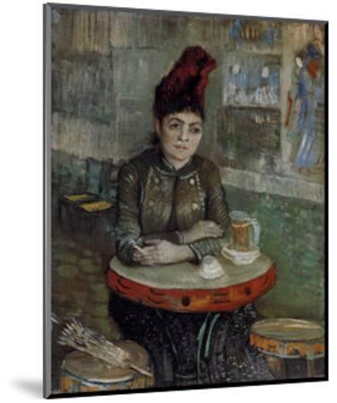 Woman at a Table in the Cafe du Tambourin-Vincent van Gogh-Mounted Art Print