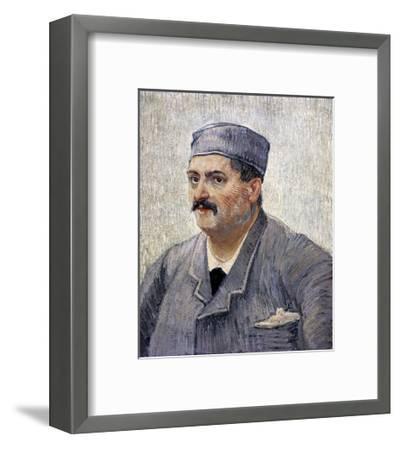Portrait of a Man with a Skullcap-Vincent van Gogh-Framed Art Print