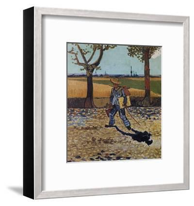 The Artist on the Road to Tarascon-Vincent van Gogh-Framed Art Print