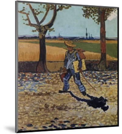 The Artist on the Road to Tarascon-Vincent van Gogh-Mounted Art Print