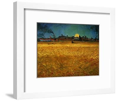 Summer Evening Near Arles-Vincent van Gogh-Framed Giclee Print
