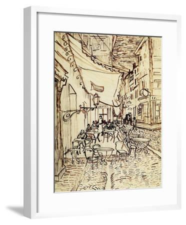 Study for the Cafe Terrace at Night-Vincent van Gogh-Framed Giclee Print
