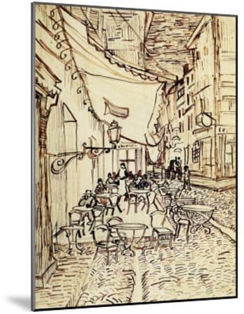 Study for the Cafe Terrace at Night-Vincent van Gogh-Mounted Giclee Print