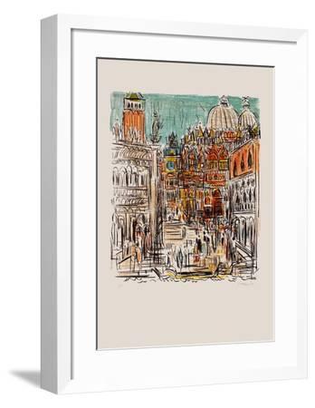 Saint Marc à Venise-Andr? Cottavoz-Framed Premium Edition