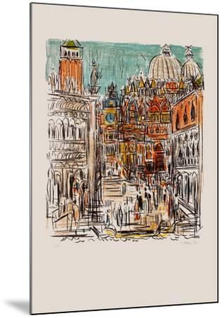 Saint Marc à Venise-Andr? Cottavoz-Mounted Premium Edition