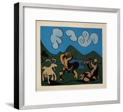 LC - Faunes et chèvres-Pablo Picasso-Framed Premium Edition