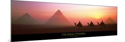 The Great Pyramids of Giza, Egypt-Shashin Koubou-Mounted Art Print