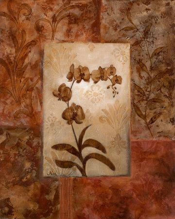 Orchids in Sepia I-Nan-Framed Art Print