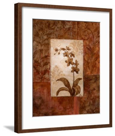 Orchids in Sepia II-Nan-Framed Art Print