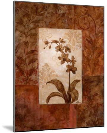 Orchids in Sepia II-Nan-Mounted Art Print