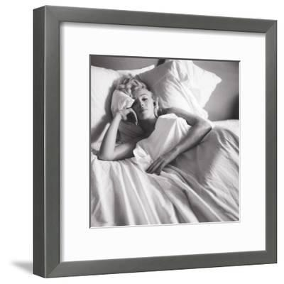 Marilyn Monroe: Bed--Framed Art Print