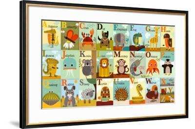 Alphabet Zoo-Jenn Ski-Framed Art Print