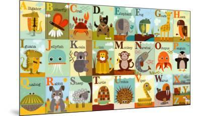 Alphabet Zoo-Jenn Ski-Mounted Art Print
