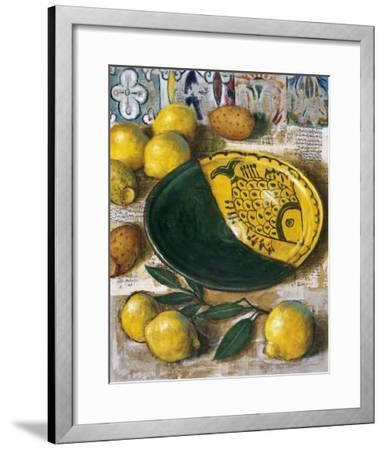 Ceramique aux Citrons-Pascal Lionnet-Framed Art Print
