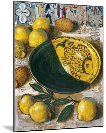 Ceramique aux Citrons-Pascal Lionnet-Mounted Art Print