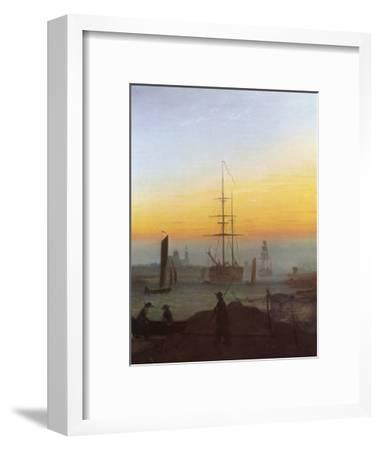 Ships in Greifswald Harbor-Caspar David Friedrich-Framed Giclee Print