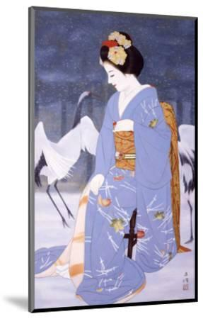 Maiko with Snow in Spring-Goyo Otake-Mounted Giclee Print