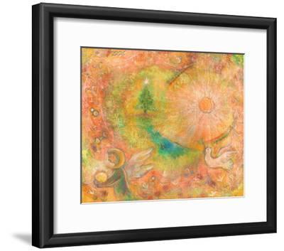 Sounds in the Universe: Dove Tree, and Sun-Miyuki Hasekura-Framed Giclee Print