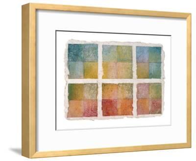 Six Happy Leaves and Natural Notes on Japanese Paper-Miyuki Hasekura-Framed Giclee Print