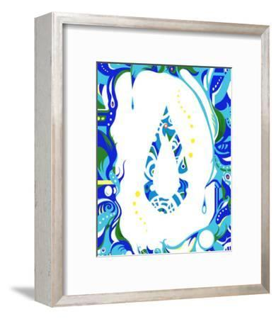 Color Melody: Color of June's Blue Rain and Lovely Drops of Water-Kyo Nakayama-Framed Giclee Print