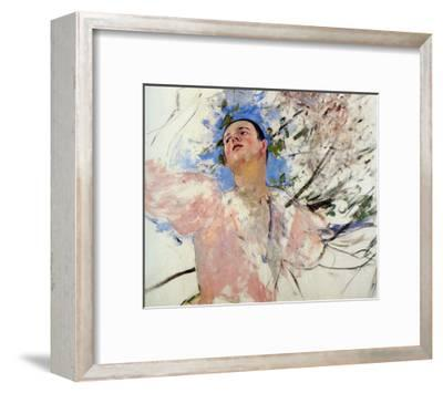Sketch of a Young Woman Picking Fruit-Mary Cassatt-Framed Giclee Print