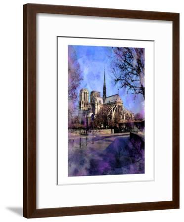 Notre-Dame, Paris, France-Nicolas Hugo-Framed Giclee Print