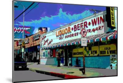 Liquor Beer Wine, Venice Beach, California-Steve Ash-Mounted Giclee Print