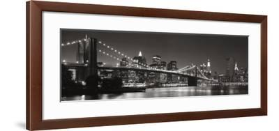 Brooklyn Bridge and Manhattan Skyline-Graeme Purdy-Framed Art Print