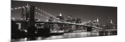 Brooklyn Bridge and Manhattan Skyline-Graeme Purdy-Mounted Art Print