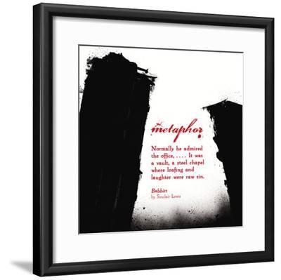 Literary Techniques: Metaphor-Jeanne Stevenson-Framed Art Print