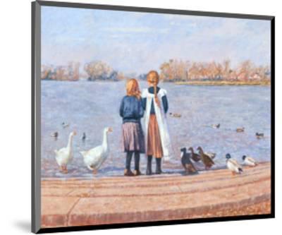 Feeding the Ducks-Paula Nightingale-Mounted Art Print