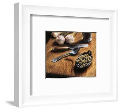 Olives with Pepper-Jeanette Tr?panier-Framed Art Print