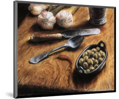 Olives with Pepper-Jeanette Tr?panier-Mounted Art Print
